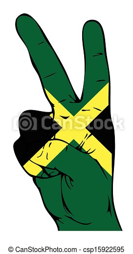 EPS Vectors of Peace Sign of the Jamaican flag csp15922595 ...