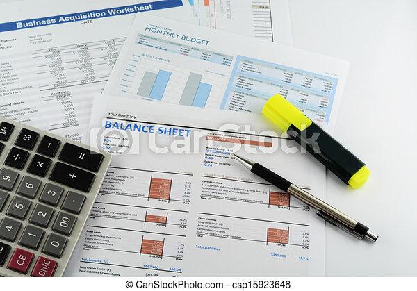 business chart report - csp15923648