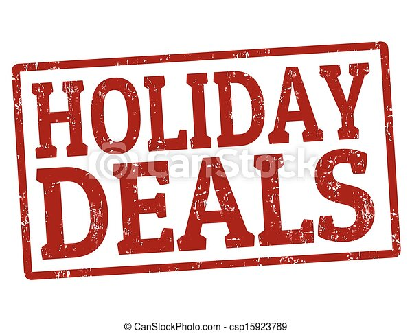 Holiday deals stamp - csp15923789