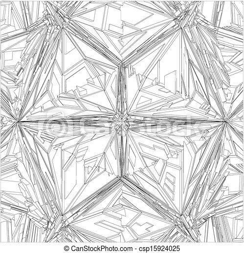 Diamond Crystal Geometric Pattern - csp15924025