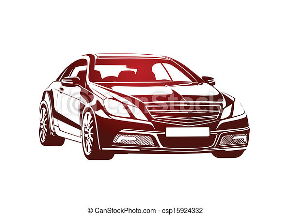 Red automobile big boss - csp15924332