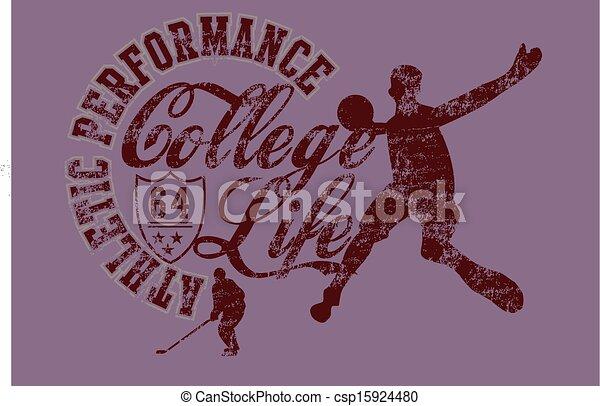 college basketball sports vector art - csp15924480
