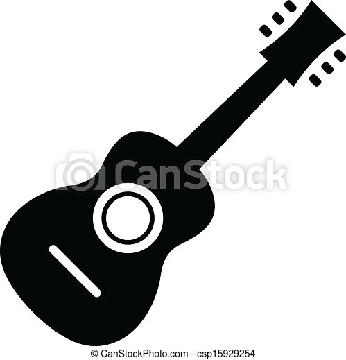 Clipart Vector of Vector Acoustic Guitar Icon csp15929254 - Search ...
