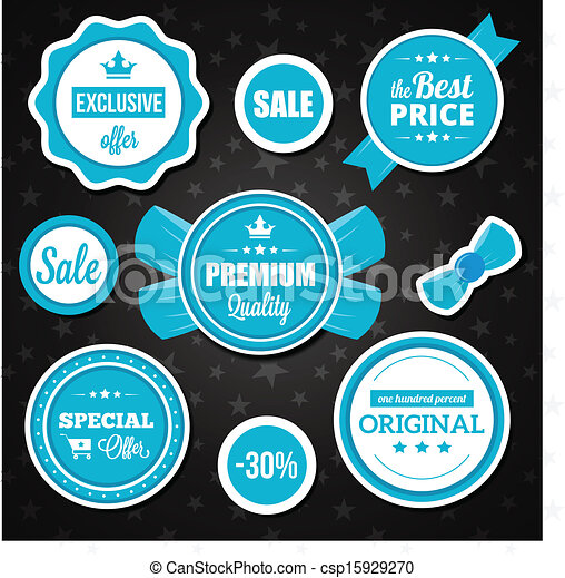 Vector Holiday Sale Badges Stickers - csp15929270