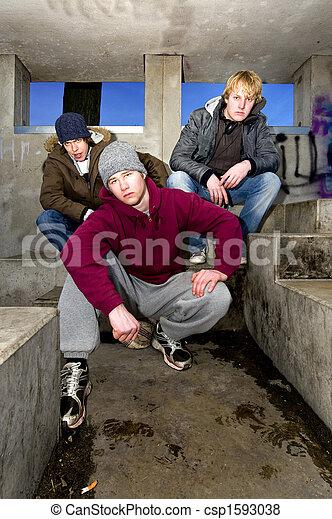 Suburban gang - csp1593038
