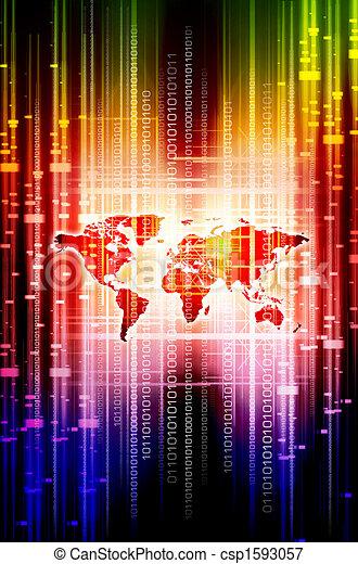 Digital World Action - csp1593057
