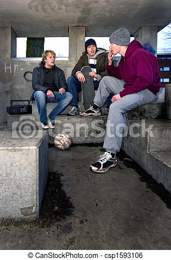 Smoking shelter - csp1593106