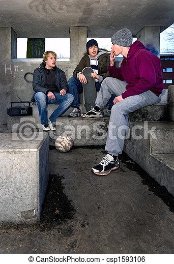 Smoking shelter - csp1593106