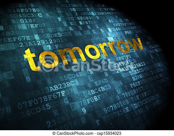 tempo, concept:, amanhã, digital, fundo - csp15934023
