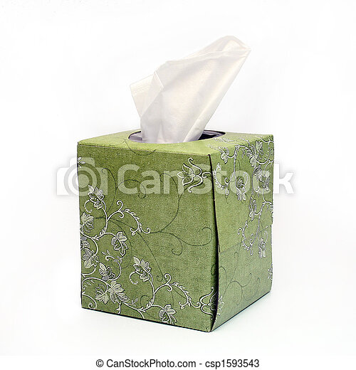 Isolated Green Tissue Box - csp1593543