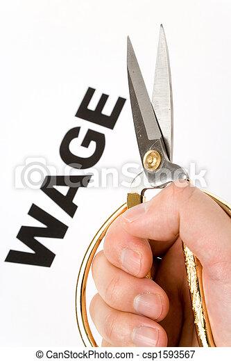 Wage Cut - csp1593567