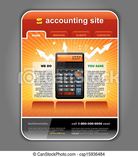 Finance Accounting Web Site - csp15936484