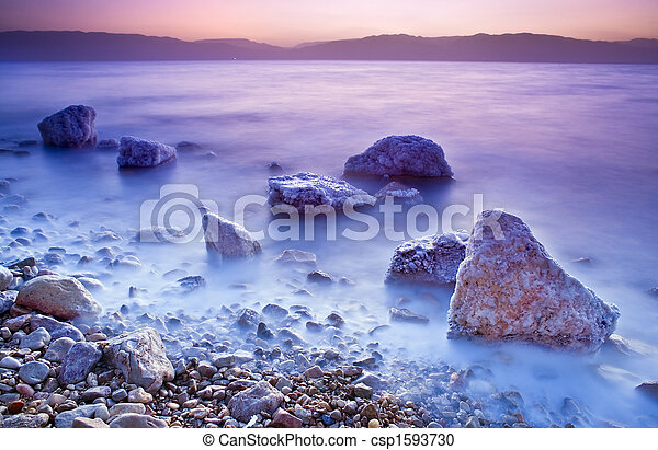 sunrise over the dead sea - csp1593730