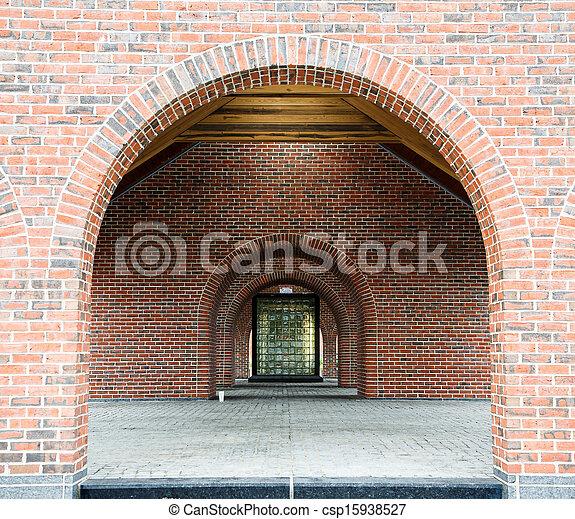 Stock fotos de vidrio bloque ventana por ladrillo for Arcos de ladrillo