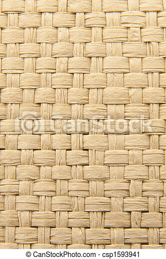 Abstract yellow woven thatch textured background - csp1593941