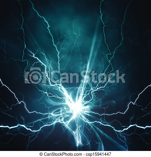 Electric lighting effect, abstract techno backgrounds for your design  - csp15941447