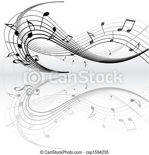 Music notes - csp1594235