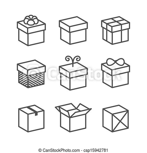 Vector Of Vector Gift Box Icons Holiday Presents