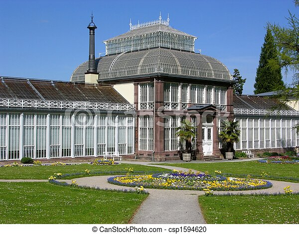 Ancient greenhouse in Kassel, Germany - csp1594620