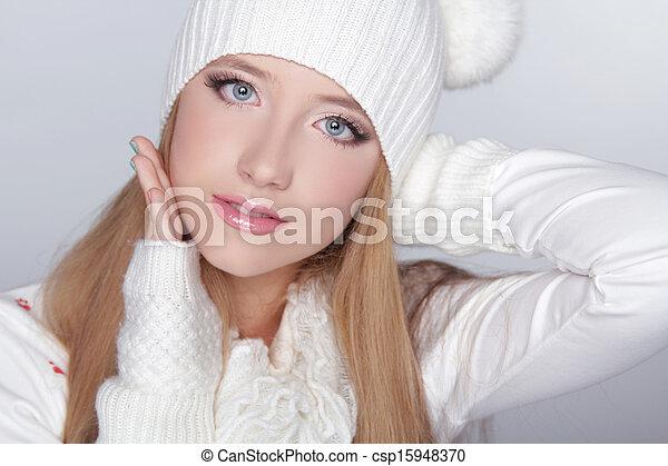 Plaatje van mooi tiener meisje vervelend winter kleding gekke csp15948370 zoek naar - Tiener meisje foto ...