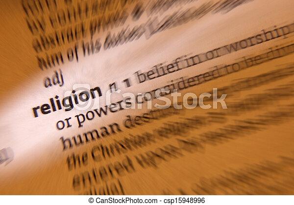 Religion - Dictionary Definition - csp15948996