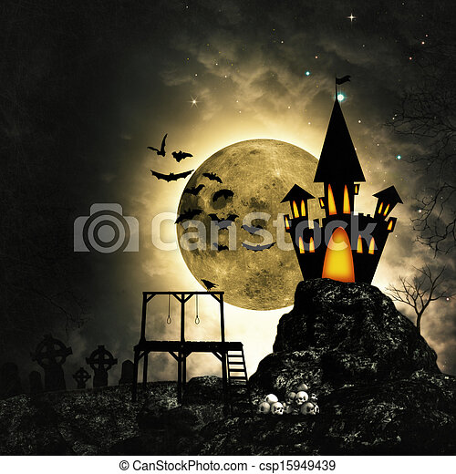 Grungy horror and mystery backgrounds for your design - csp15949439