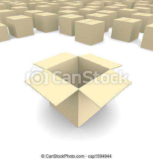 Empty cardboard box - csp1594944