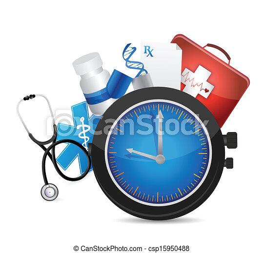 medical time concept illustration design - csp15950488