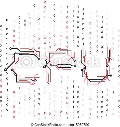 cpu, 电路, 二进制