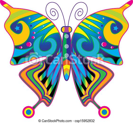 Dessins de papillon dans couleurs csp15952832 recherchez des illustrations clipart et des - Papillon dessin couleur ...