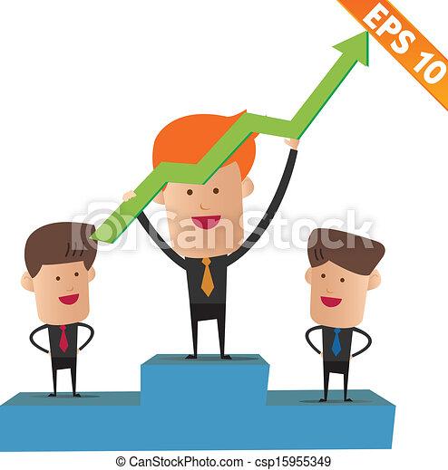 Vecteur eps de eps10 business gagnant illustration - Dessin podium ...