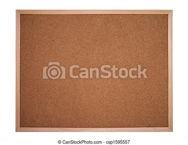 cork board or bulletin board - csp1595557