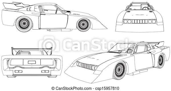Race Car Vector Clipart Eps Images Race Car Clip Art