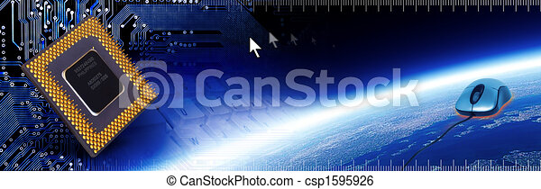 Computer Tech Banner 2 - csp1595926