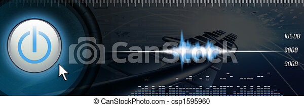 Sound Banner - csp1595960