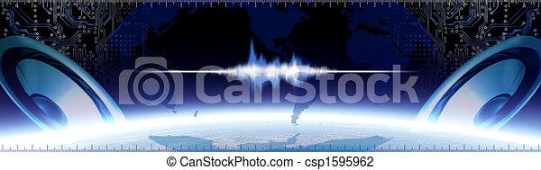Sound Banner - csp1595962