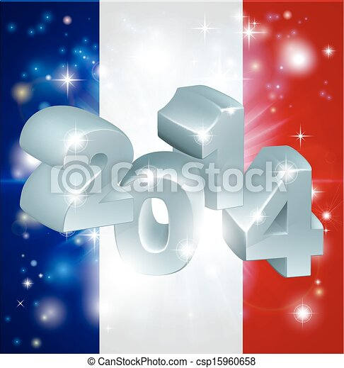 2014 french flag - csp15960658