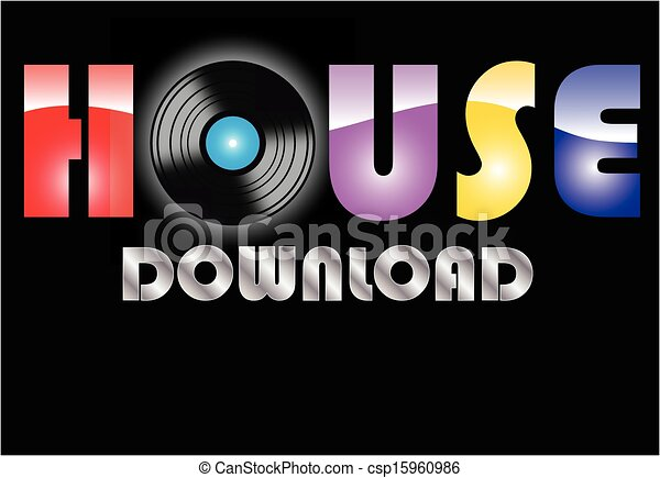 House music vector clip art instant download csp15960986 for House music art