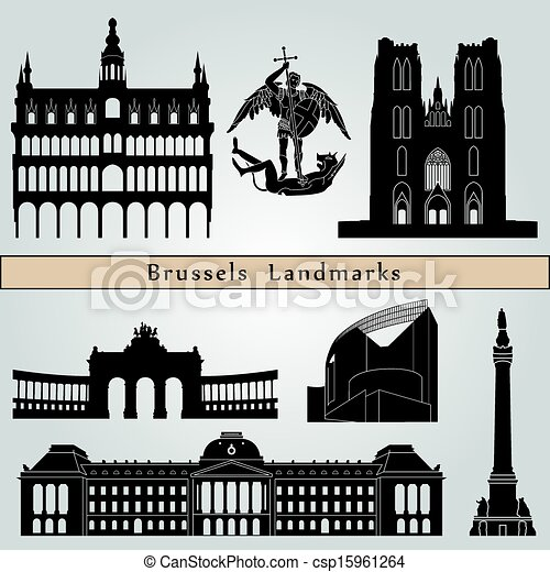 Brussels landmarks and monuments - csp15961264
