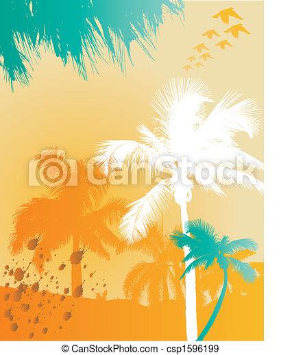 Palm tree background - csp1596199