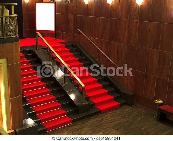 Stock de fotos de escaleras rojo alfombra vista for Escaleras con alfombra