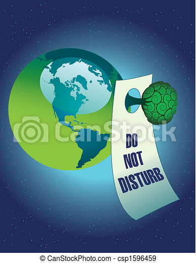 Do not disturb the environment - csp1596459