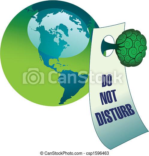 Do not disturb the environment - csp1596463