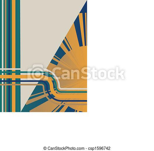 Art Deco Sunburst Background - csp1596742