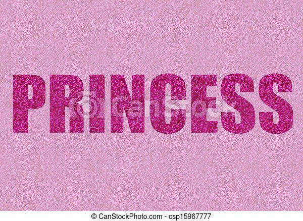 stock illustrationen von rosa glitzer prinzessin prinzessin geschrieben in csp15967777. Black Bedroom Furniture Sets. Home Design Ideas