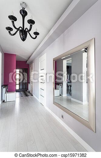 images de vibrant petite maison moderne couloir vibrant csp15971382 recherchez des. Black Bedroom Furniture Sets. Home Design Ideas