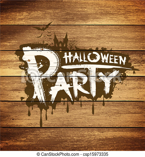 Halloween party message design  - csp15973335