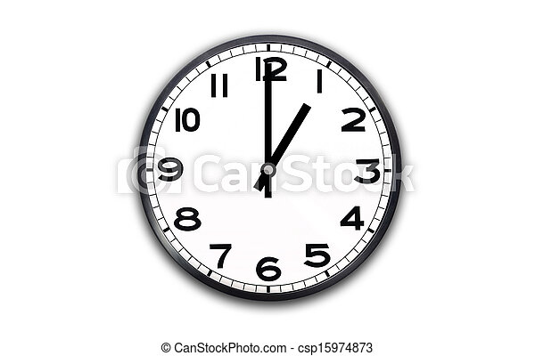 Clock showing 1 o'clock Stock Photo Images. 34 Clock showing 1 o ...