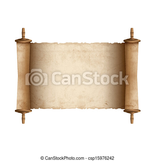Ancient Scrolls Drawing Ancient Scroll Csp15976242