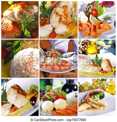 different dishes at the restaurant